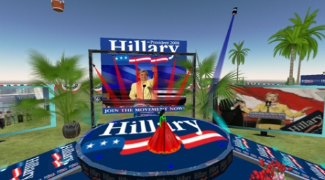 Hillary Clinton's island in Second Life