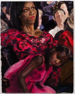 Michelle Obama by Elizabeth Peyton