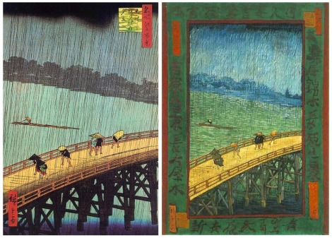"""The Bridge in the Rain"" by Vincent Van Gogh, 1887"
