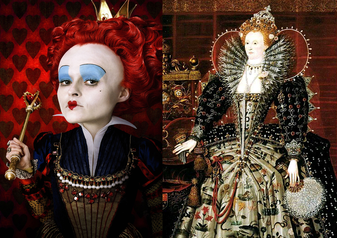 Queen Of Hearts Hairstyles: Tim Burton's Bulbous Heads
