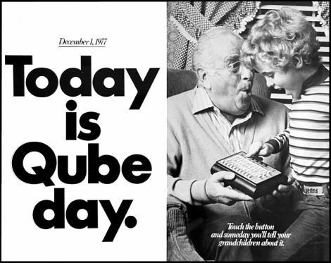 Advertisement for Qube