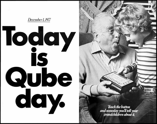 Advertisement for Qube