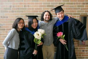 With my committee members Wei, Robby, and friend Yu-hao. We all study games in some form or other.