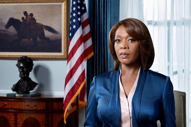 Constance Payton, first Black president of the U.S. Photo by NBC