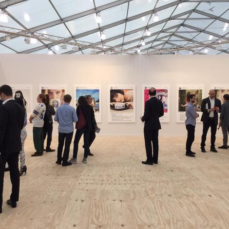 The Gagosian Gallery booth at the Frieze Art Fair in NY in early May, 2015